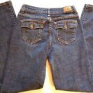 Levis Perfectly Slimming 512 Boot Cut Womens Distressed Denim Blue Jeans Size 6M