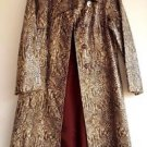 Snake Skin Faux Leather Vintage Designer Coat Size 13-14 Saks Fifth Avenue