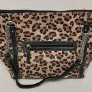 Womens Leaopard Print Large Shoulder Handbag Purse NWT $99 Ellen Tracy Carmen
