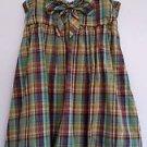 I.N. San Francisco Womens Blue Brown Plaid Bubble Sundress Dress Size M Self Bra