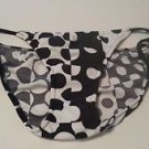 Womens Venus Black & White Polka Dot String Bikini Swimsuit Bottoms Size 2 NWOT