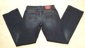 Lucky Brand Womens Juniors Midrise Flare Stretch Denim Blue Jeans Size 30R L32