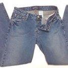 Levis Womens Button Front Stretch Low Rise Slim Bootcut Denim Blue Jeans Size 9