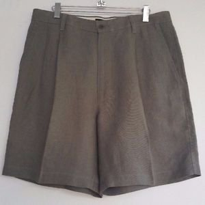 Banana Republic Classic 100% Linen Shorts Size 34 Pleated Front NWOT Beige