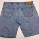 Levis 505 Straight Fit Mens Grunge Distressed Denim Blue Jean Shorts Size W38
