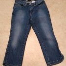 Gap Cropped Boot Cut Womens Capri Stretch Denim Blue Jeans Size 2 Reg Semi-evase