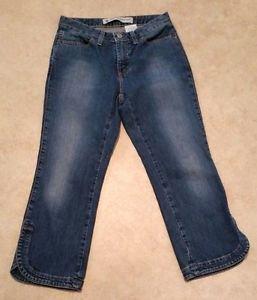 Gap Cropped Boot Cut Womens Capri Stretch Denim Blue Jeans Size 2 Reg Semi-evase