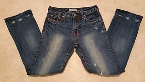 Aeropostale Mens Distressed Denim Blue Jeans size W29 L32 Boot Cut Grunge Cotton