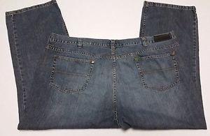 Mens Distressed Denim Blue Jeans Straight Leg Size W50 L30 Concepts by Claiborne