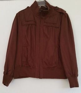 Womens Beverly HIlls Polo Club VTG Brown Jacket Plus Size 2X Zipper Front