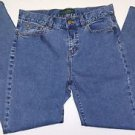 LRL Lauren Jeans Co Ralph Lauren Stretch Denim Blue Jeans Straight Leg Size 6P