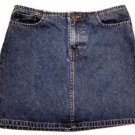 Womens American Eagle Outfitters Distressed Denim Blue Jean Short Skirt Size 0