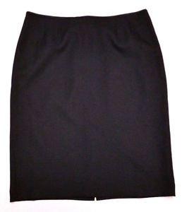 Womens Le Suit Black Below the Knee Dress Suit Skirt Size 16 Straight Lined