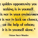 Mouse Pad - Golden Opportunity - Inspirational