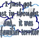 Mouse Pad - Lost In Thought - Humorous