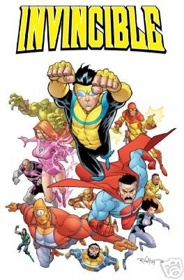 INVINCIBLE CAST POSTER 24 x 36 inches Ryan Ottley