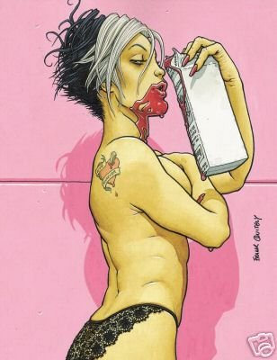 BITE CLUB #1 VAMPIRE POSTER FRANK QUITELY 24x36