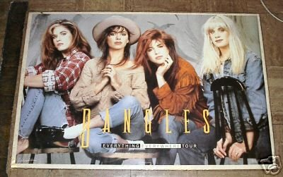 1988 VINTAGE BANGLES ROCK GROUP POSTER 23x35