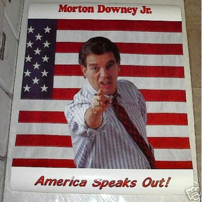 VINTAGE 1988 MORTON DOWNEY JR. POSTER 22 x 34 inches