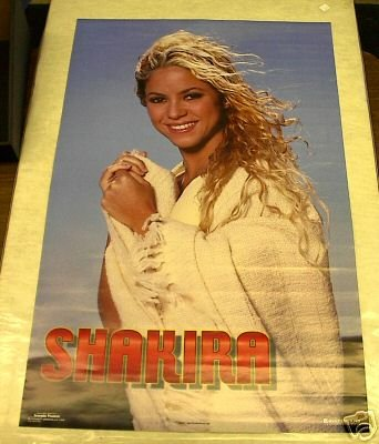 2001 vintage rare SHAKIRA POSTER 22x34 hard to find