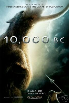LOT OF 3 10,000 B.C. MOVIE POSTER x3 27 x 40
