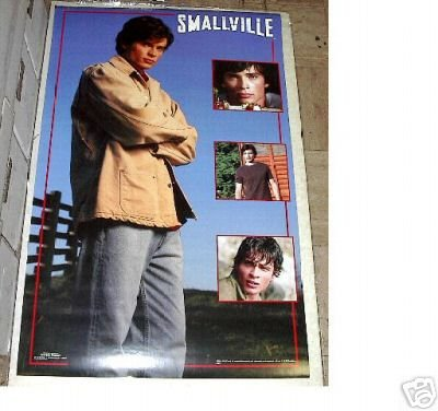 VINTAGE 2002 SMALLVILLE POSTER w/ TOM WELLING  22 x 34 inches