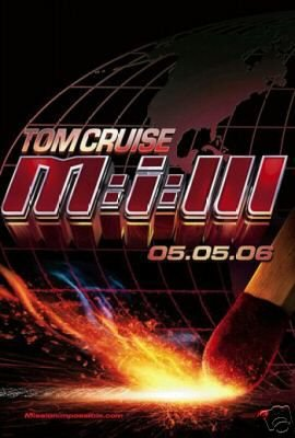 MI3 MISSION IMPOSSIBLE 3 MOVIE POSTER 27x40 TOM CRUISE