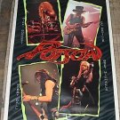 VINTAGE RARE 1988 POISON GROUP COLLAGE POSTER 22x34