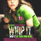 WHIP IT MOVIE POSTER DREW BARRYMORE ELLEN PAGE FREE SHIPPING