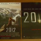 LOT OF 2 - 2012 MOVIE POSTER FREE SHIPPING