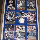 1989 WADE BOGGS MARK MCGWIRE GEORGE BRETT DON MATTINGLY KIRBY PUCKETT ROGER CLEMENS POSTER 22x34