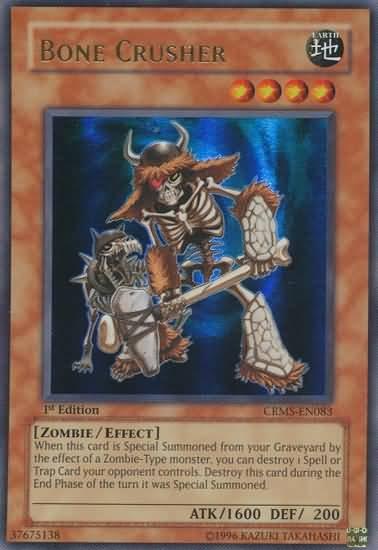 YUGIOH Bone Crusher CRMS-EN083 Ultra Rare NM 1st edition