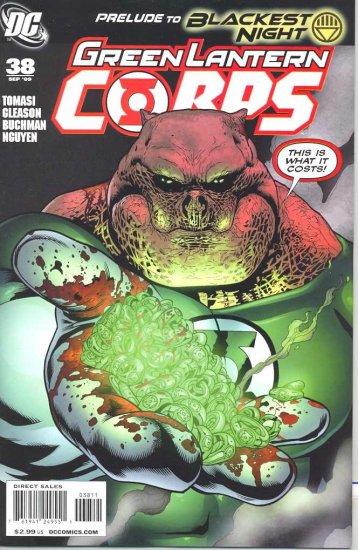 GREEN LANTERN CORPS #38 (BLACKEST NIGHT) DC COMICS (2009) vf/nm