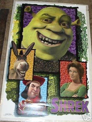 2001 DREAMWORKS SHREK MOVIE COLLAGE POSTER 23x34