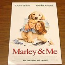 MARLEY & AND ME ADVANCE PROMOTIONAL MOVIE POSTER FREE SHIPPING