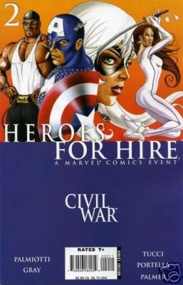 Heroes For Hire #2 CIVIL WAR cross-over near mint comics MARVEL COMICS