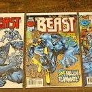 THE BEAST 3 COMIC LOT RUN #s 1 – 3 m/nm (1997) X-Men