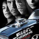 FAST & and FURIOUS MOVIE POSTER FREE SHIPPING VIN DIESEL MICHELLE RODRIGUEZ PAUL WALKER