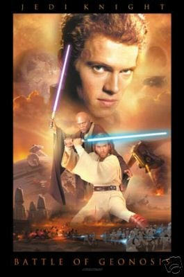 VINTAGE STAR WARS ATTACK OF THE CLONES GEONOSIS POSTER Free shipping
