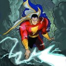 SHAZAM #1 POSTER art by JEFF SMITH 24 x 36 inches (2008)