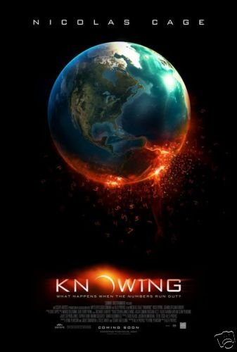 KNOWING MOVIE POSTER FREE SHIPPING NICOLAS CAGE