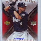 2007 UD RYAN BRAUN ROOKIE OF THE YEAR ROY-NL