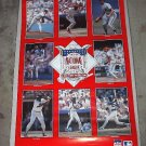 VINTAGE 1989 NATIONAL LEAGUE ALL STAR POSTER from STAR LINE OZZIE SMITH TONY GWYNN  Free shipping