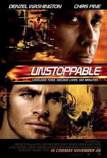 UNSTOPPABLE MINI MOVIE POSTER 13x20 Chris Pine DENZEL WASHINGTON FREE SHIPPING