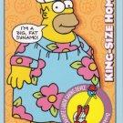 2001 Simpsons Mania Promo Card # P1 Homer promo (near mint card)