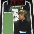2011 SDCC Star Wars UNPUNCHED backing card Luke Skywalker (Endor Capture)
