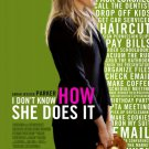 I DON'T KNOW HOW SHE DOES IT 27X40 D/S MOVIE POSTER Sarah Jessica Parker Verson B