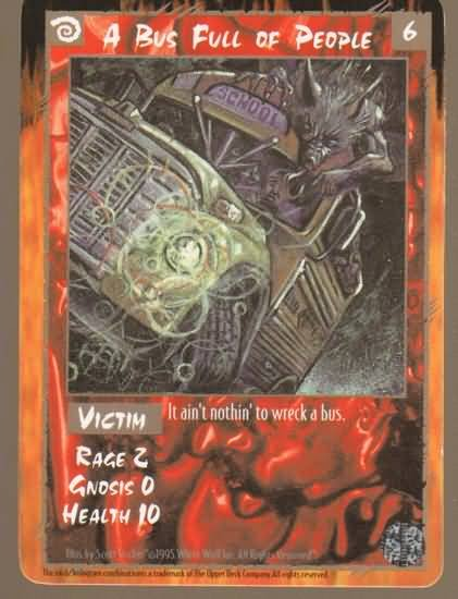 Rage A Bus Full of People (The Wyrm) near mint card