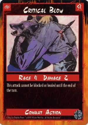 Rage Critical Blow (Limited Edition) near mint card