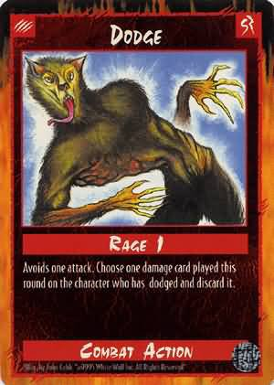 Rage Dodge (Limited Edition) near mint card